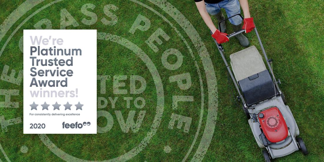 The Grass People receives Feefo Platinum Trusted Service Award 2020