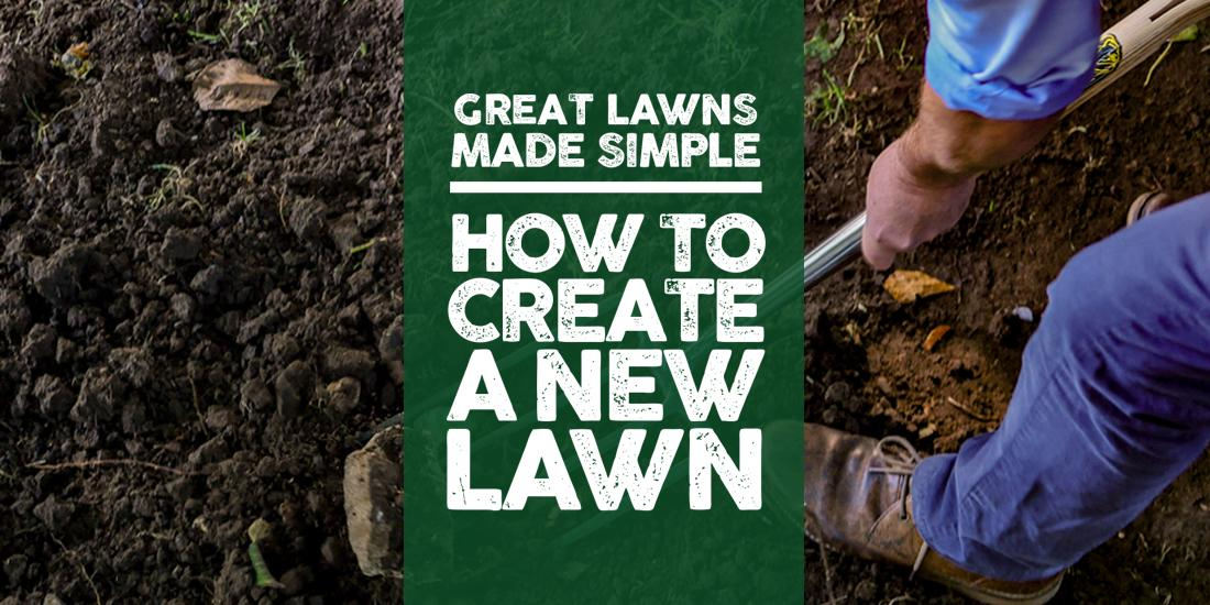 Great Lawns Made Simple: How to create a new lawn