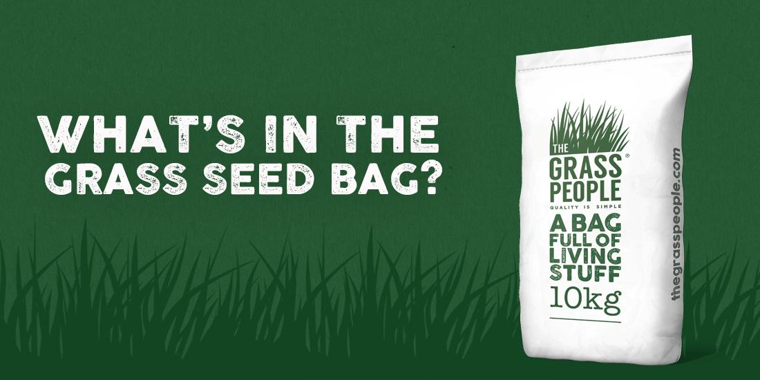 What's in the grass seed bag?