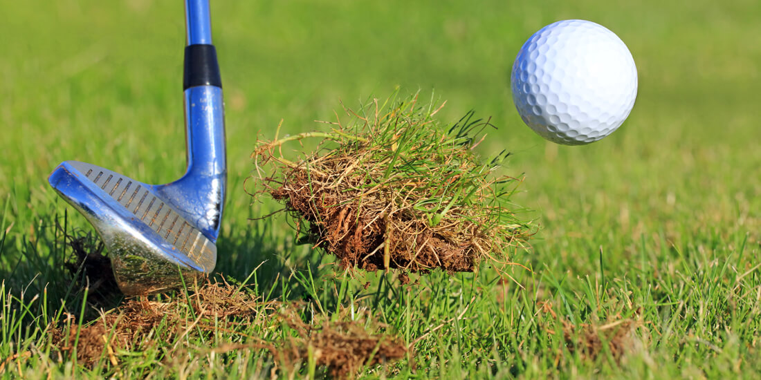 How to repair divots on the golf course