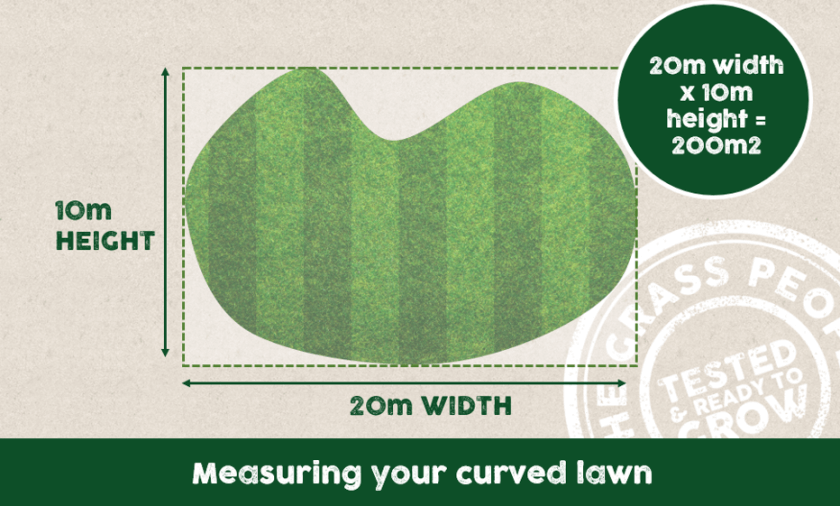 Measuring a curved lawn