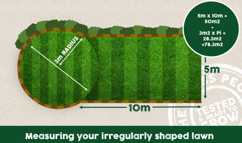 Measuring an irregularly shaped lawn