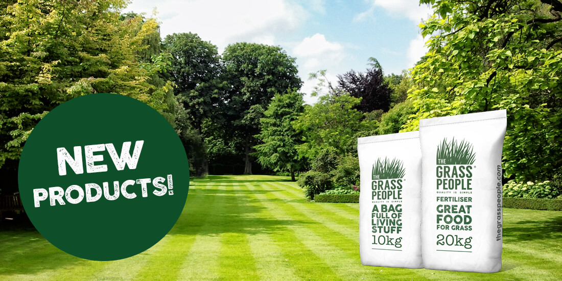 NEW products! Introducing grass seed for sandy soils, 100% organic fertiliser and more!